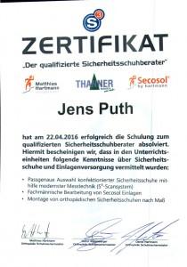 Jens Sicherheitsschuhberater Zertifikat